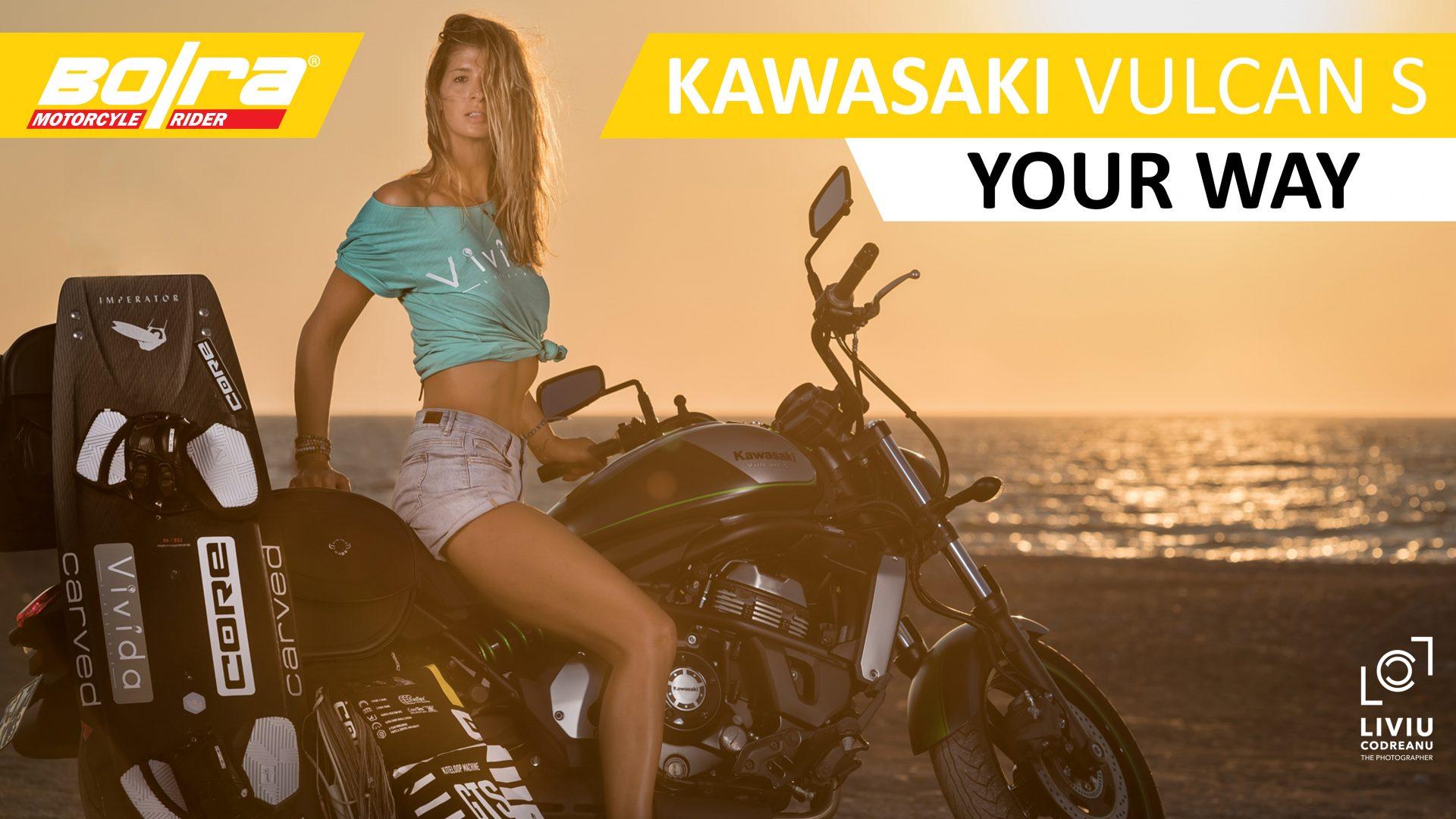 Test drive si sedinta foto cu Kawasaki Vulcan S