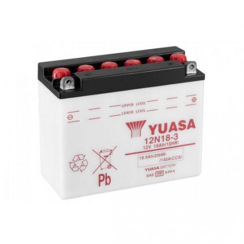 Baterie moto Yuasa 12V 18Ah (12N18-3)